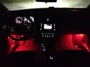 Image of Single Color Footwell LEDs Choose from Red, Blue or White Fits: MKVII 2015+ Volkswagen GTI / Golf
