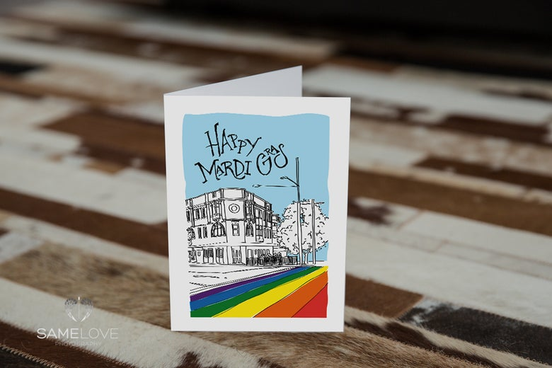 Image of Happy Mardi Gras - Special Edition Gift Card