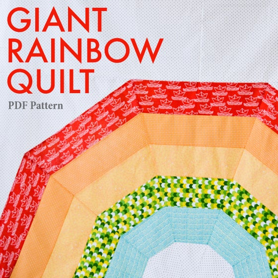 Image of Giant Rainbow Quilt