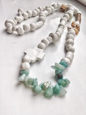 Image of Gem Stone light green necklace 2