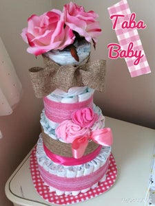 Image of Custom Diaper Cake