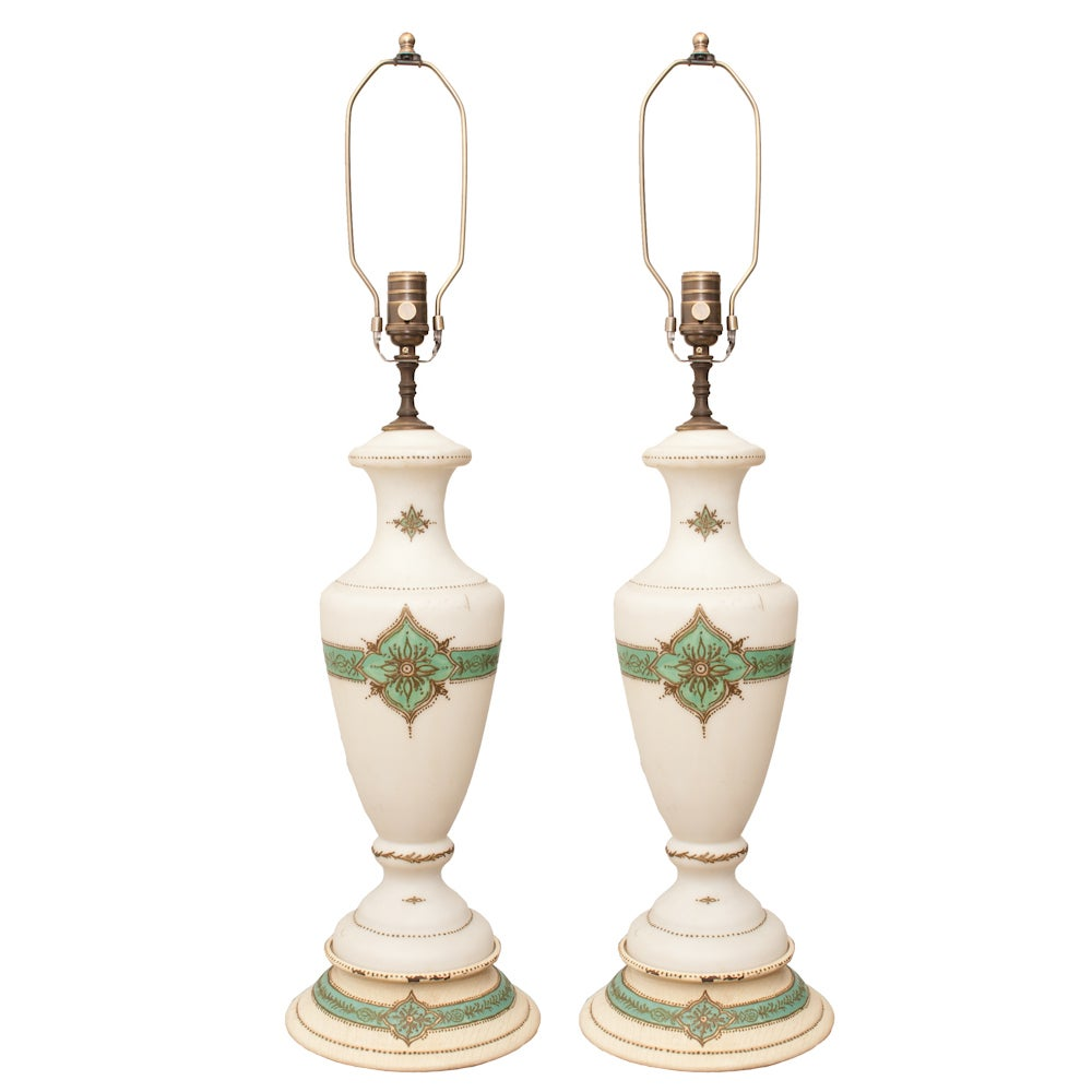 Image of Pair of Antique Lamps