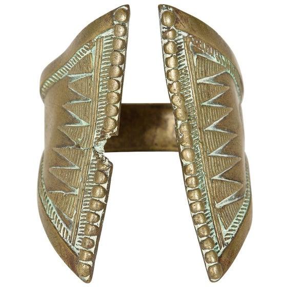 Image of 19th-C. African Brass Bracelet, Triangular