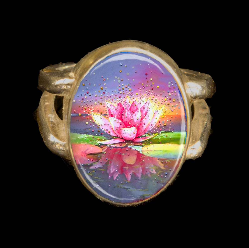 Image of The Pink Lotus Metaphysical Energy Ring