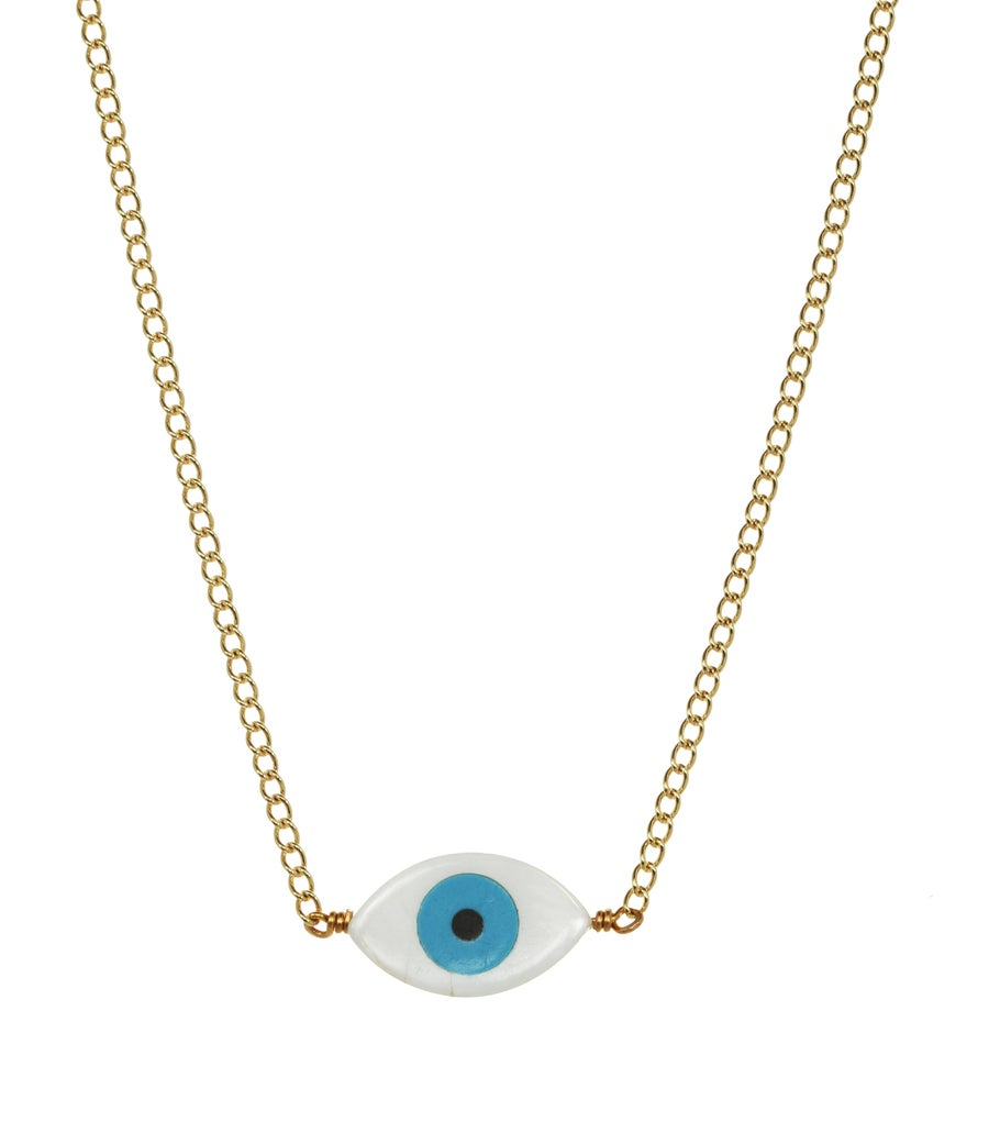Image of EVIL EYE PROTECTION CHOKER necklace