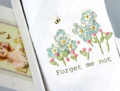 Image of Single lady's Handkerchief: Forget Me Not
