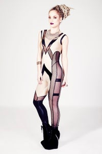Image of ATANASIA Catsuit in NUDE & BLACK