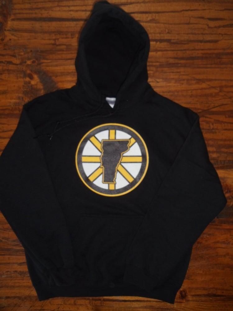 Lovermont 802 boston bruins hooded sweatshirt vermont for Boston bruins bear t shirt