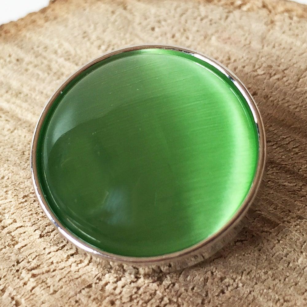 Image of Botón Piedra Resina Verde Claro