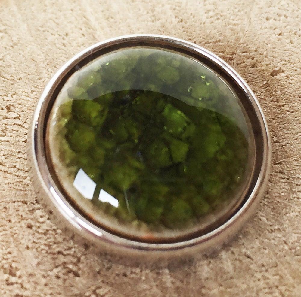 Image of Botón Cerámica Verde