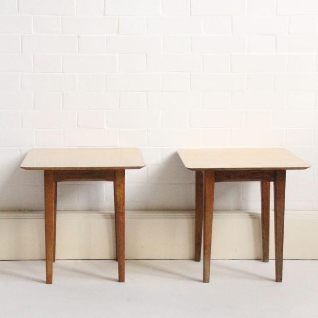Image of Vintage Formica side/bedside tables