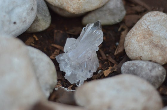 Image of Clear quartz druze