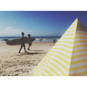 Image of YELLOW STRIPE BEACHTIPI