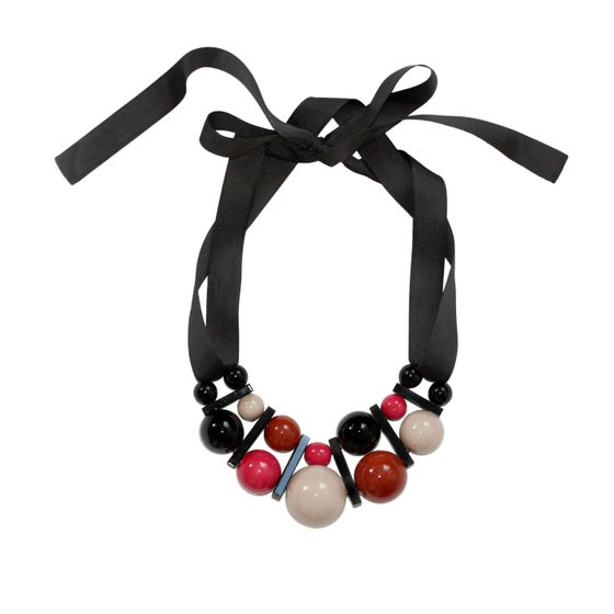 Image of Large brick&pink necklace