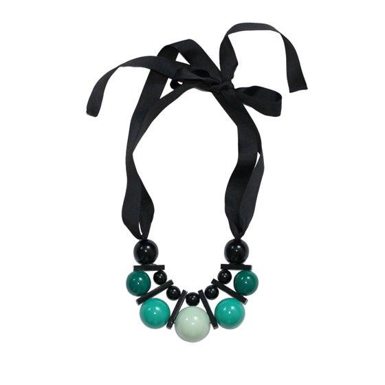Image of Large celadon&green necklace