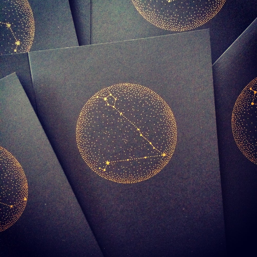 Image of Zodiac Constellation card