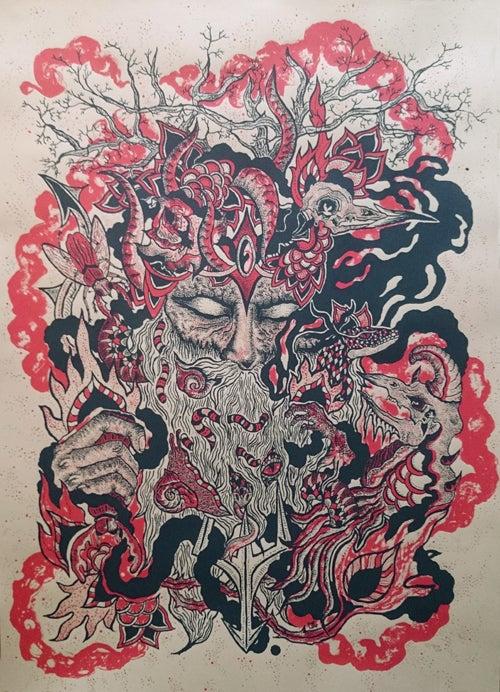 Image of Art Print : VIEUX SAGE (2014) Screenprinted Poster