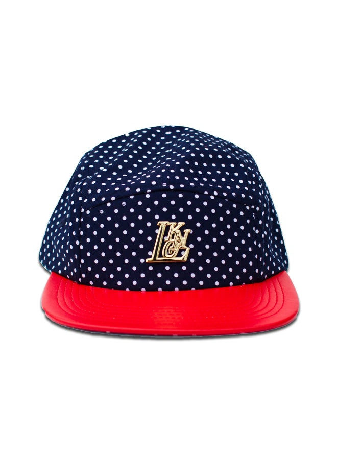 Image of Navy Polka 5-Panel Cap