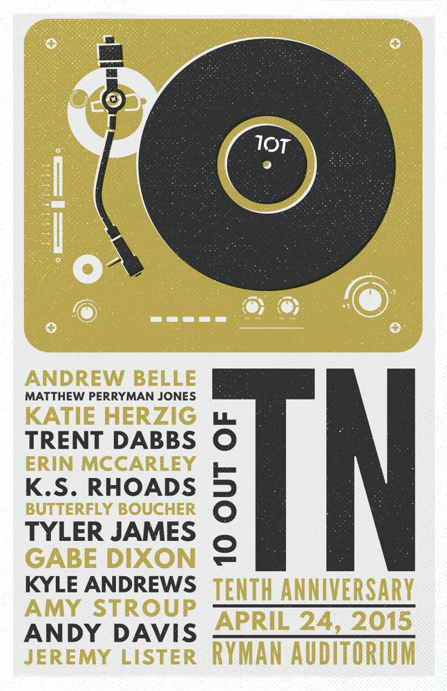 Image of TOT: 10 Years Ryman Show Poster