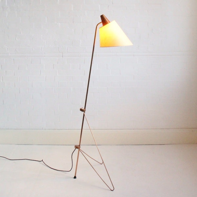 Image of Copper floor lamp Josef Hurka, 1958