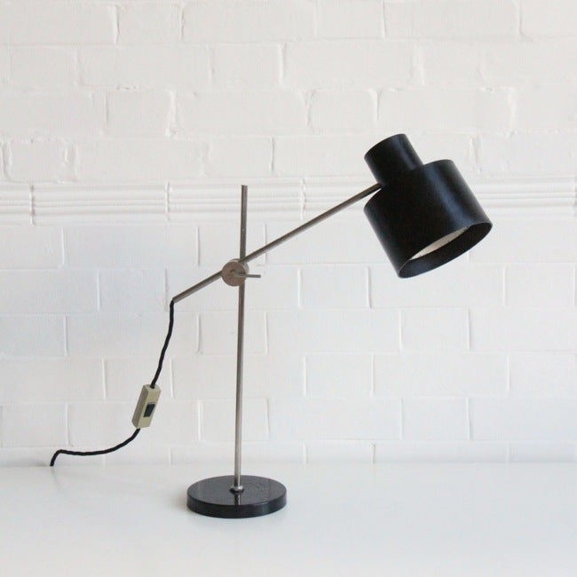 Image of BAKELITE DESK LIGHT and heavy base
