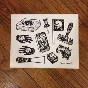 Image of Printmaking sticker sheet