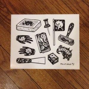 Image of Printmaking sticker sheet