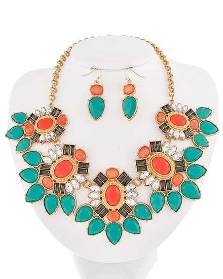 Image of Brighley Turquoise and Gold Necklace