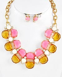 Image of Hudson Champagne and Florals Necklace