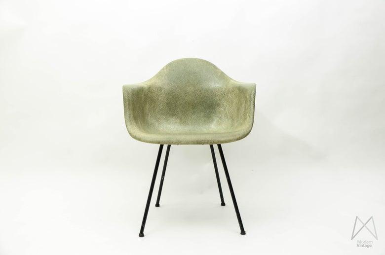 Image of Eames Herman Miller DAX Seafoam green Chair Armchair Stuhl fiberglass