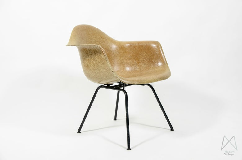 Image of Eames Herman Miller LAX Fiberglass Light Brown
