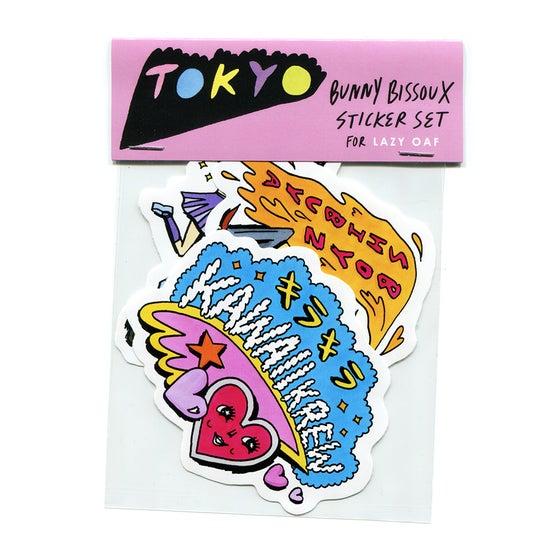Image of 'TOKYO' STICKER SET - BUNNY BISSOUX x LAZY OAF