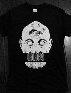 Image of INCUDES FREE TIMES TOLD EP!! Mono 'Aged Gentleman With Three Eyes' T-Shirt - Spring 2015