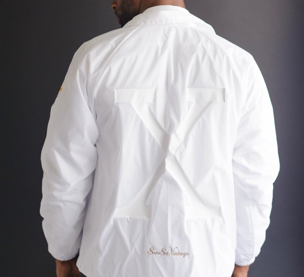 Image of X Retro Fraternity Jacket - Tonal (White)