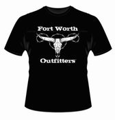 Image of Longhorn Skull Short Sleeve Shirt - Black