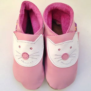 Image of Cute Cats Leather Baby Shoes