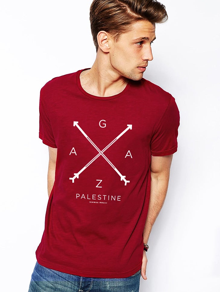 shop t shirts gaza t shirt cardinal red. Black Bedroom Furniture Sets. Home Design Ideas