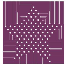 Image of Forma Estrella con estrellitas