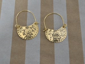 Image of Concho Stamped Shield Earrings