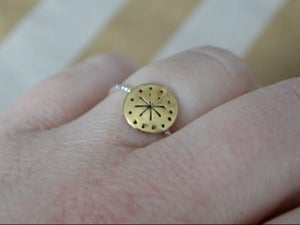 Image of Mini Stamped Concho Ring