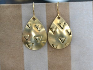 Image of Pear & Triangle Dangle Earrings