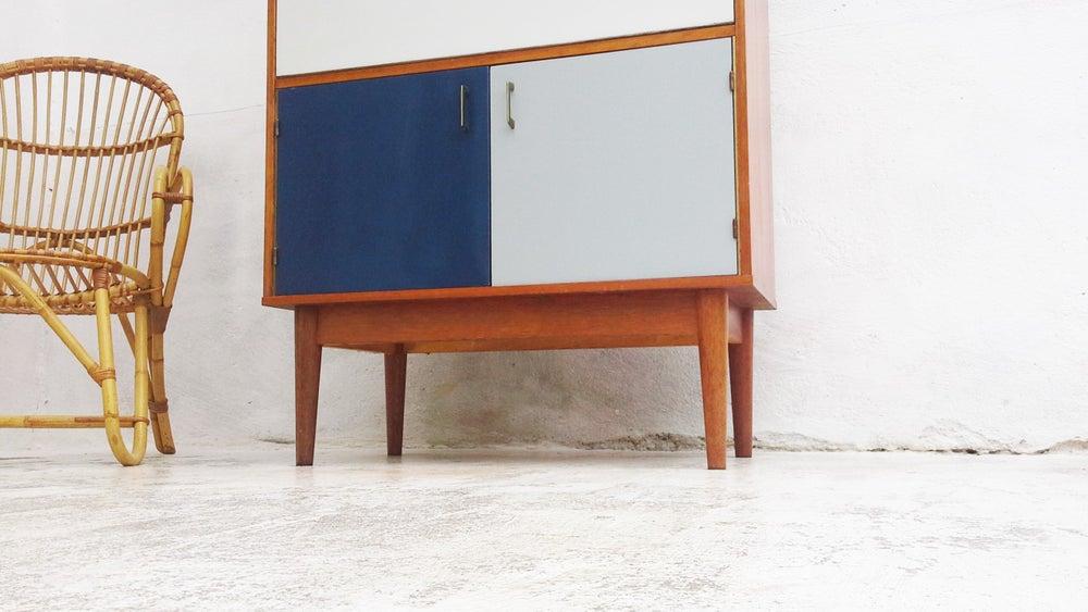 Image of Secrétaire style scandinave bleu-gris