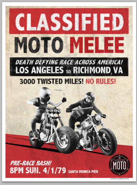 Image of Moto Melee Poster