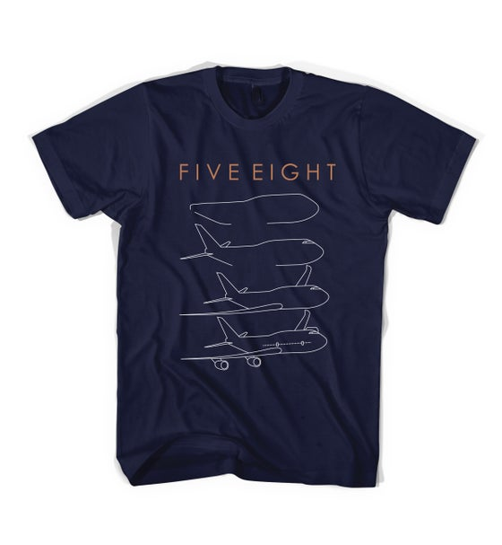 "Image of Five Eight - ""Aeroplane"" Tee - Navy"