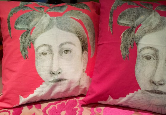 Image of Native Woman Pillowcase with Pillow