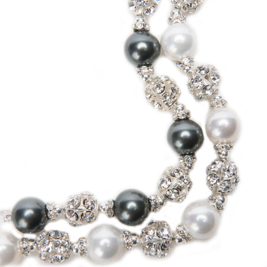 Image of Margo Shell Pearl Earrings Necklace and Bracelet