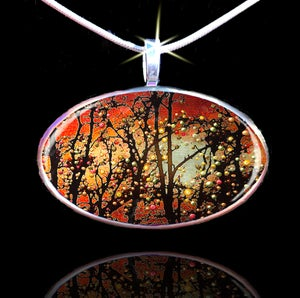 "Image of ""Winter Solstice - Spirits Promise Of Better Things To Come"" Energy Pendant"