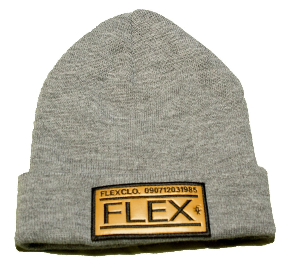 Image of FLEX Grey Beanie