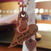 """Image of """"You Are My Everything"""" Heart Pendant (w/ embellishment)"""