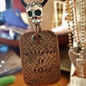 Image of Skull Head Piece & Dog Tag (Copper/ One of A Kind Design)